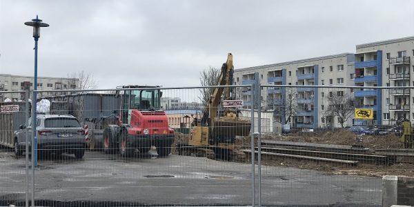 Baustelle am 29. Januar 2019