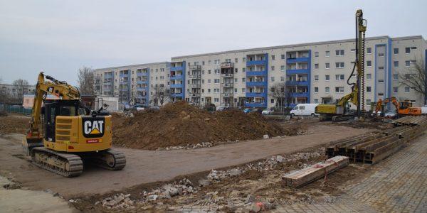 Baustelle am 1. Februar 2019