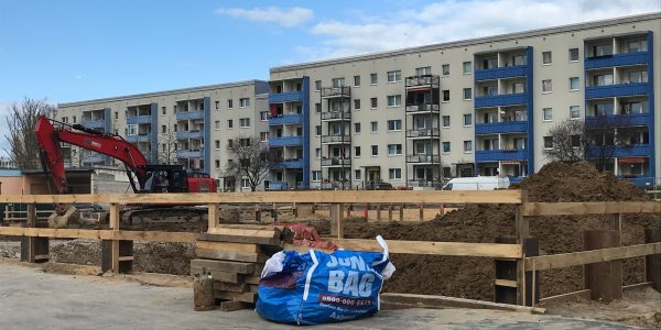 Baustelle am 19. März 2019
