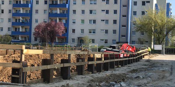 Baustelle am 9. April 2019