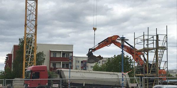 Baustelle am 14. Mai 2019