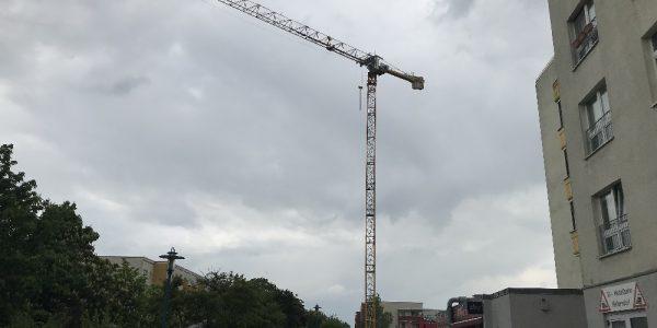 Baustelle am 9. Mai 2019