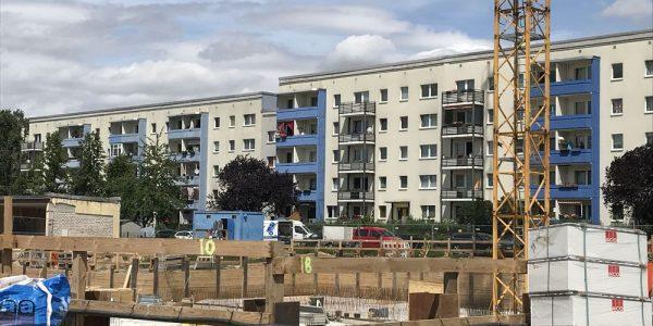 Baustelle am 4. Juli 2019