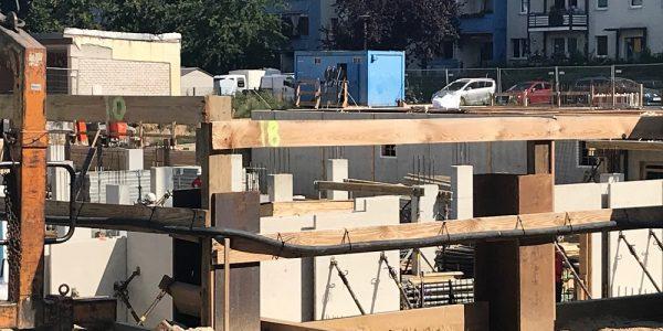 Baustelle am 6. August 2019