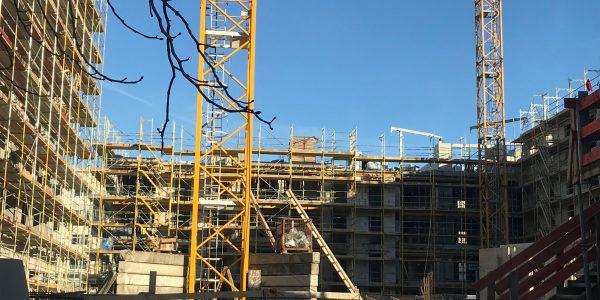 Baustelle am 21. Januar 2020
