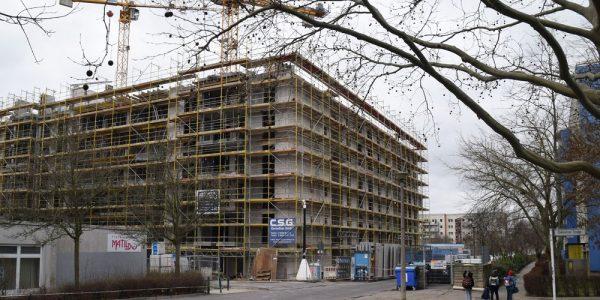 Baustelle am 25. Februar 2020