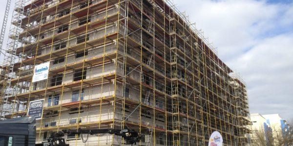 Baustelle am 3. April 2020