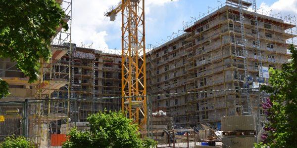 Baustelle am 5. Mai 2020