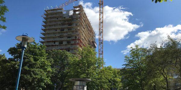 Baustelle am 21. Juli 2020