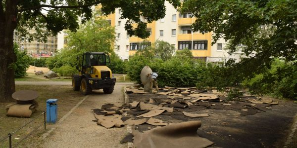 Umgestaltung Boulevard Kastanienallee am 1. Juli 2020