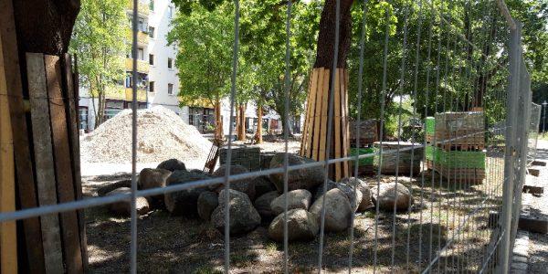 Umgestaltung Boulevard Kastanienallee am 5. August 2020
