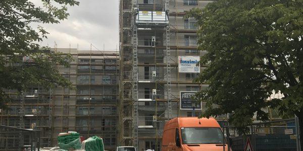 Baustelle am 18. August 2020