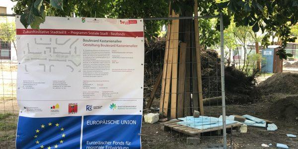 Umgestaltung Boulevard Kastanienallee am 10. September 2020