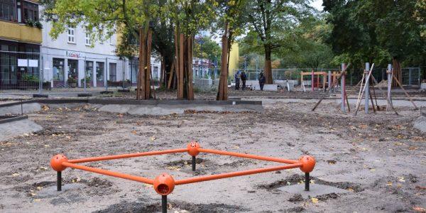 Umgestaltung Boulevard Kastanienallee  am 15. Oktober 2020