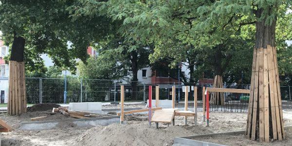 Umgestaltung Boulevard Kastanienallee  am 6. Oktober 2020