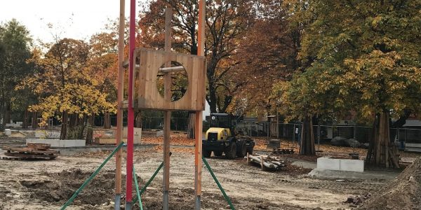 Umgestaltung Boulevard Kastanienallee  am 27. Oktober 2020