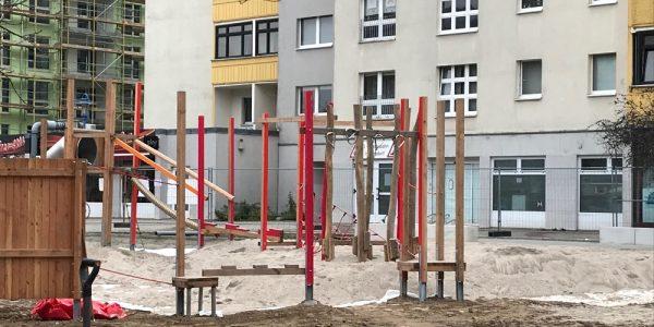 Umgestaltung Boulevard Kastanienallee am 30. November 2020