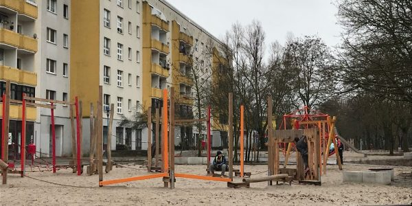 Umgestaltung Boulevard Kastanienallee am 20. Januar 2021