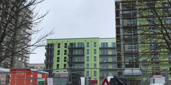 Baustelle am 17. Februar 2021
